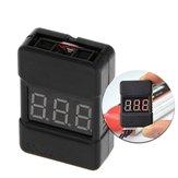 Testeur de tension BX100 1-8S Lipo Batterie / Alarme avertisseur de basse tension / Vérificateur de tension Batterie avec deux haut-parleurs