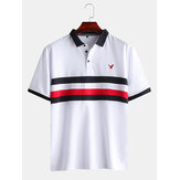 Mens New White Casual Fashion Cotton Short Sleeved Golf Shir