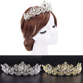 Rhinestones Baroque Bridal Crown Tiara Wedding Hair Headdress Flower King Prom