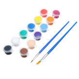 12 Colors Art DIY 3ML Watercolor Acrylic Pigment Painting Drawing +2 Brush Pen