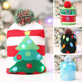 Loskii Christmas Hat Kids Adult LED Light Santa Claus Reindeer Snowman Xmas Gifts Cap Home Decorations For Christmas