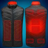 電気ベストはジャケット9の暖房区域USBの熱暖かい冬のボディウォーマーを熱しました