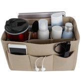 Filcowa torba z wieloma kieszeniami Torebka Torebka Organizer Kosmetyczny makijaż Travel Desktop Organizer
