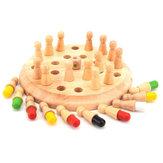 Drewniane Memory Match Chess Gra Klip Koraliki Zabawki Montessori Zabawki edukacyjne dla dzieci