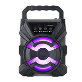 LM-S308 Portable bluetooth 5.0 Speaker 360 Degree Surround Sound Colorful LED Lights Display FM USB TF 3.5mm AUX For Car Home