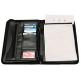 Pasta de arquivo de documento PU Leather Zipper Conference Binder Bolsa Business Briefcase Office School Supply