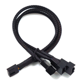 27cm 4Pin 1 to 3 4Pin Adapter Cable PWM Temperature Controlled Cooling Fan Power Adapter Extension Cable Lead Wire