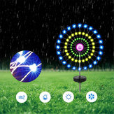 Zonne-energie Colorful LED Starburst String Light Lawn Lamp voor Christmas Garden Party Decor