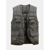 Men Tactical Functional Multi Pocket Outdoors Warm Vest