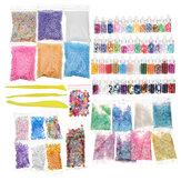 72 Paquete DIY Perlas de limo Los encantos incluyen limo herramientas Bolas de espuma Perlas sueltas Perlas de pecera