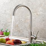 Küchenarmatur 360 Drehen Edelstahl Warmen und Kalten Waschbecken Wasserhahn Mischer Wasserhähne Auslauf Becken Deck Montiert Kran für Küche