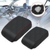 Apoio de braço de centro de couro de carro de PU consola Caixa proteção de cobertura para Honda cívico 2006-2011