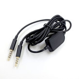 Gaming Headset Earphone Cable for Logitech Astro A10 A40 A50 A30 Smartphone Audio Cable Cord Inline Mute Volume Control Cables