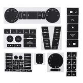Car Matte Black Worn Button Repair Kit Stickers Decals For VW Volkswagen Touareg 2004–2009