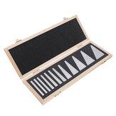 Machifit 12pcs Juego de bloques de ángulo de precisión 1/4 a 30 grados Torno Medidor Fresadora Torno herramientas