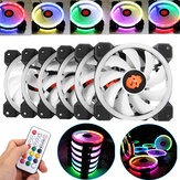 Coolmoon 6PCS 120mm RGB Ajustável LED Light Computer PC Caso Ventoinha com remoto