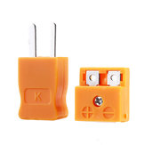 K Type Thermocouple Mini Yellow Plug Temperature Meter Connector Male Plug and Female Connector  Plug