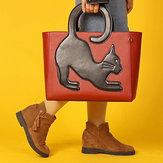 女性猫柄ハンドバッグ多機能クロスボディバッグ