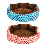 Cat Dog Pet Bed Soft Nest Puppy Cushion Warm Kennel House Mat Washable Blanket