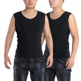 Warm Singlet Men Heat Holders Winter Black Thermal Underclothes Underwear Sleeveless Waistcoat Top