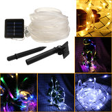 39FT 100 LED solare String Rope Fairy Light Impermeabile Xmas Wedding Party Decor Luce notturna