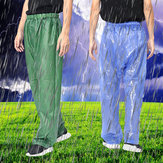 Mens Women Waterproof Rainproof Over Trousers Fishing Clothing Hiking Hunting Pants