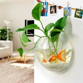 Tenture Murale Creative Vase En Verre Transparent Réservoir De Poissons Hydroponique Salon Home Decor