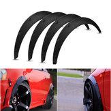 4Pcs 2 Inch/50mm Universal Flexible Car Wheel Fender Flares Extra Wide Body Wheel Arches