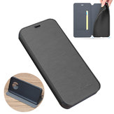 For OnePlus 7T Case Bakeey Flip with Stand Card Slot Full Body Brushed Leather Shockproof Soft Protective Case