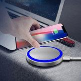 Bakeey Q5 5 W LED Göstergesi Hızlı Şarj Için Evrensel Kablosuz Şarj Pad iPhone X XS XIAOMI MI9 S10 S10+