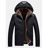 Veste chaude à capuche coupe-vent zippée à la mode pour hommes