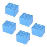 5Pcs QIANJI JQC-3F(T73)-5VDC 12VDC T73 5V 12V 10A 5ピンリレーモジュール