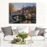 40x30 cm Cityscape River Print Art Pinturas Imagem Poster Home Wall Art