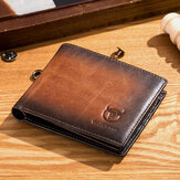Men Genuine Leather Vintager RFID Blocking Wallet