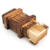 مقصورة صغيرة خشبية سرية لعبة لغز المربع السحري