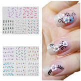 BLE Flower Nail Art Water Transfer Decal Sticker