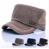 Unisex Cotton Blend Military Washed Baseball Cap