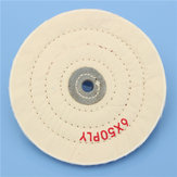 6 Inch Round Felt Wool 1/2inch Arbor Buffer Polisher Buffing Polishing Wheel