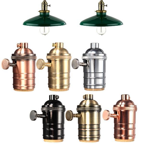 E27 Lichtdoos Vintage Edison Hanger lamphouder Met knop 110-220V