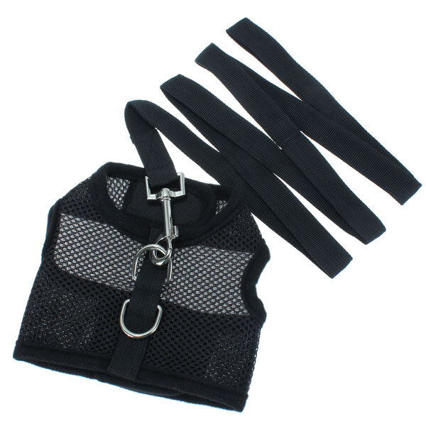 Size S Casual Pet Safety Leash With Mesh Girth Harness Vest Small