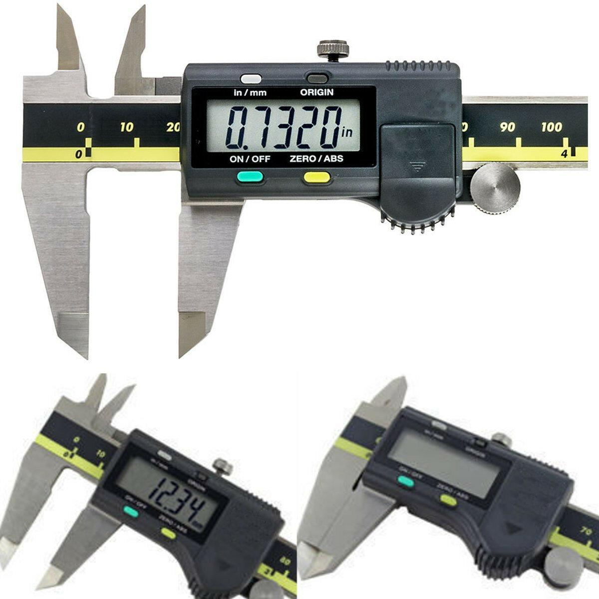Micromètre électronique de calibre de vernier de Digital de l'acier inoxydable de 150mm 6 pouces avec la boîte