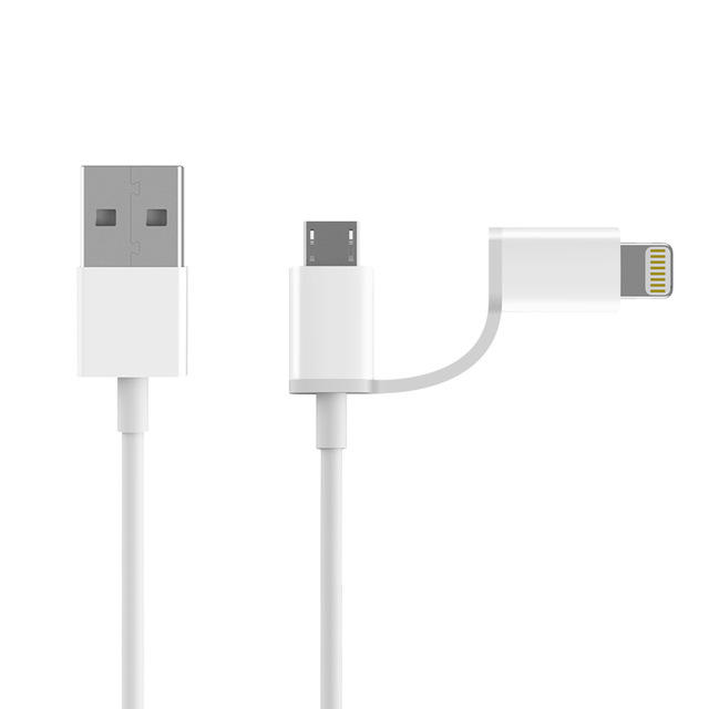 Original ZMI 1M 2 in 1 Micro USB Lightning for Data Cable for iPhone Huawei for Samsung