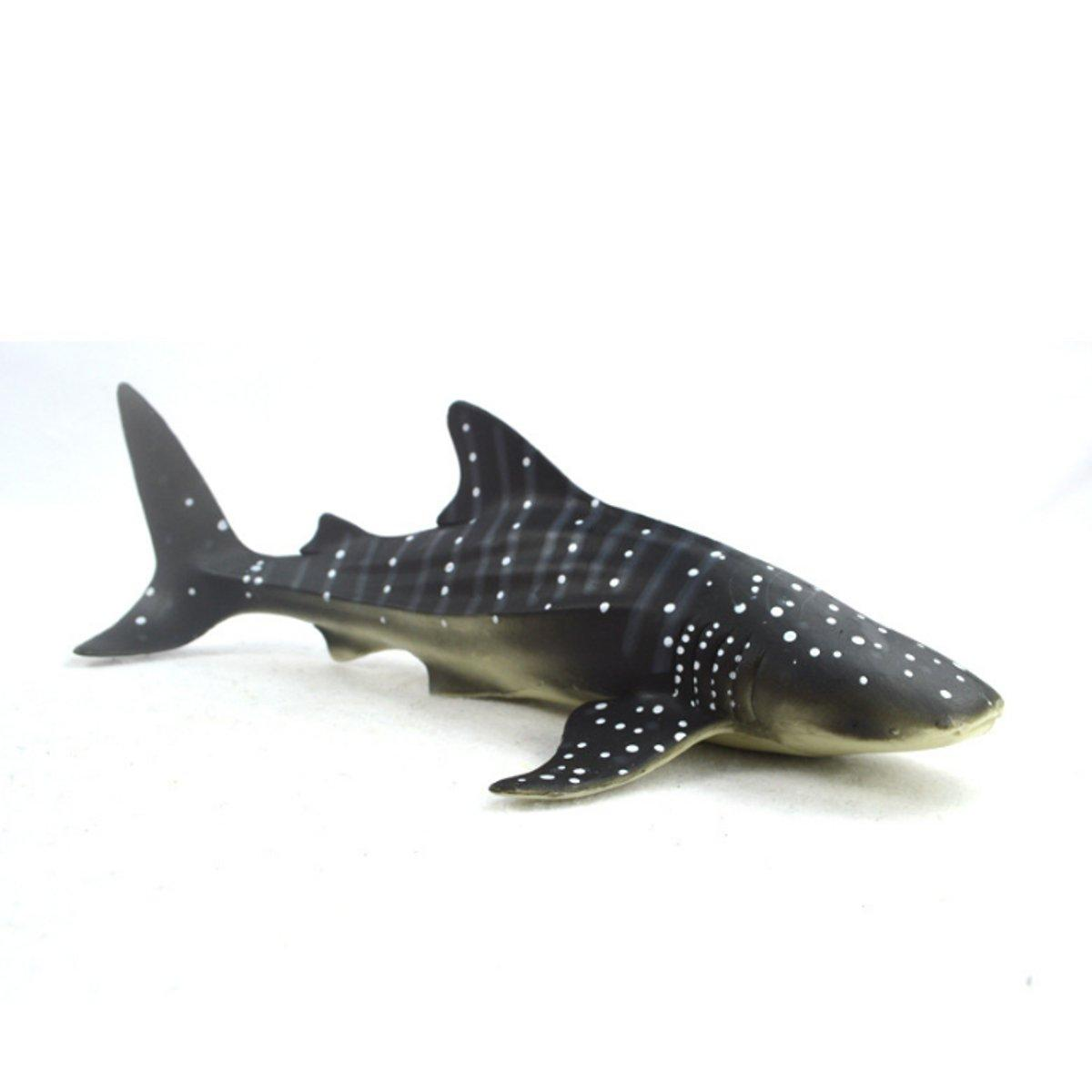 28cm Realistic Whale Shark Sea Animal Figure Solid Plastic Ocean Toy Diecast Model