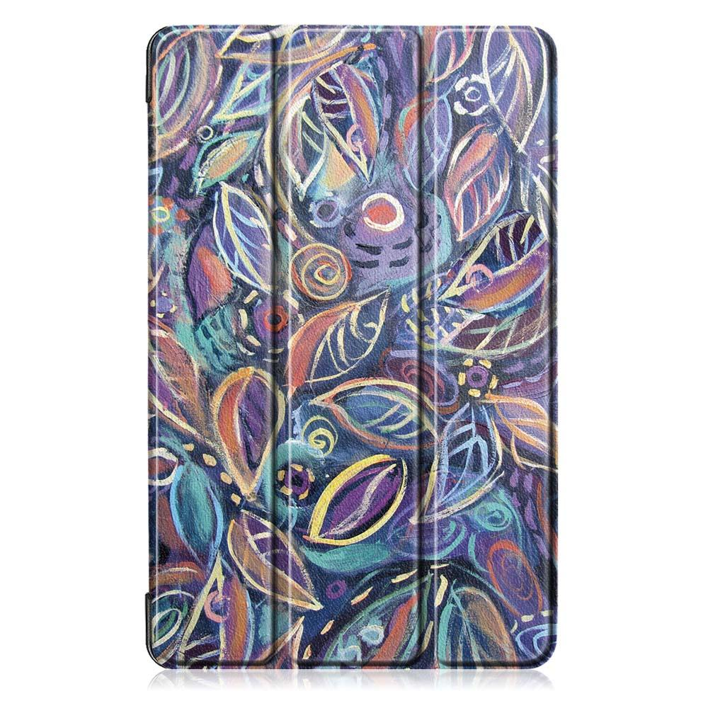 Tri-Fold Pringting Tablet Case Cover for Samsung Galaxy Tab A 10.1 2019 T510 Tablet - Tree Leaves