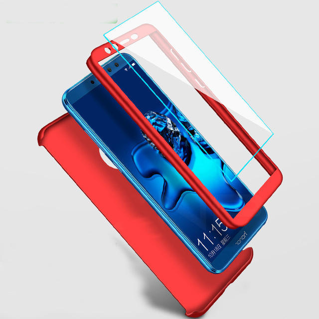 Bakeey 360° Full Hard PC Protective Case+Tempered Glass Screen Protector For Huawei Honor 8X