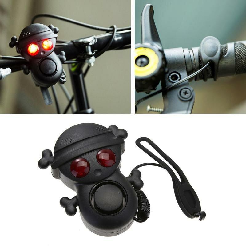 XANES WB01 Велосипед Электрический рог Высокий децибел 120dB Колокол с сигнальной лампой AAA Батарея Многотоновый Водонепроницаемы