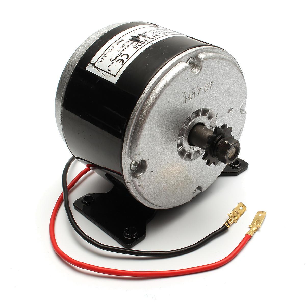 24V 200W 2750 tr / min Motopropulseur électrique bicyclette Scooter dans le sens des aiguilles d'une montre 2 fils ZY1016