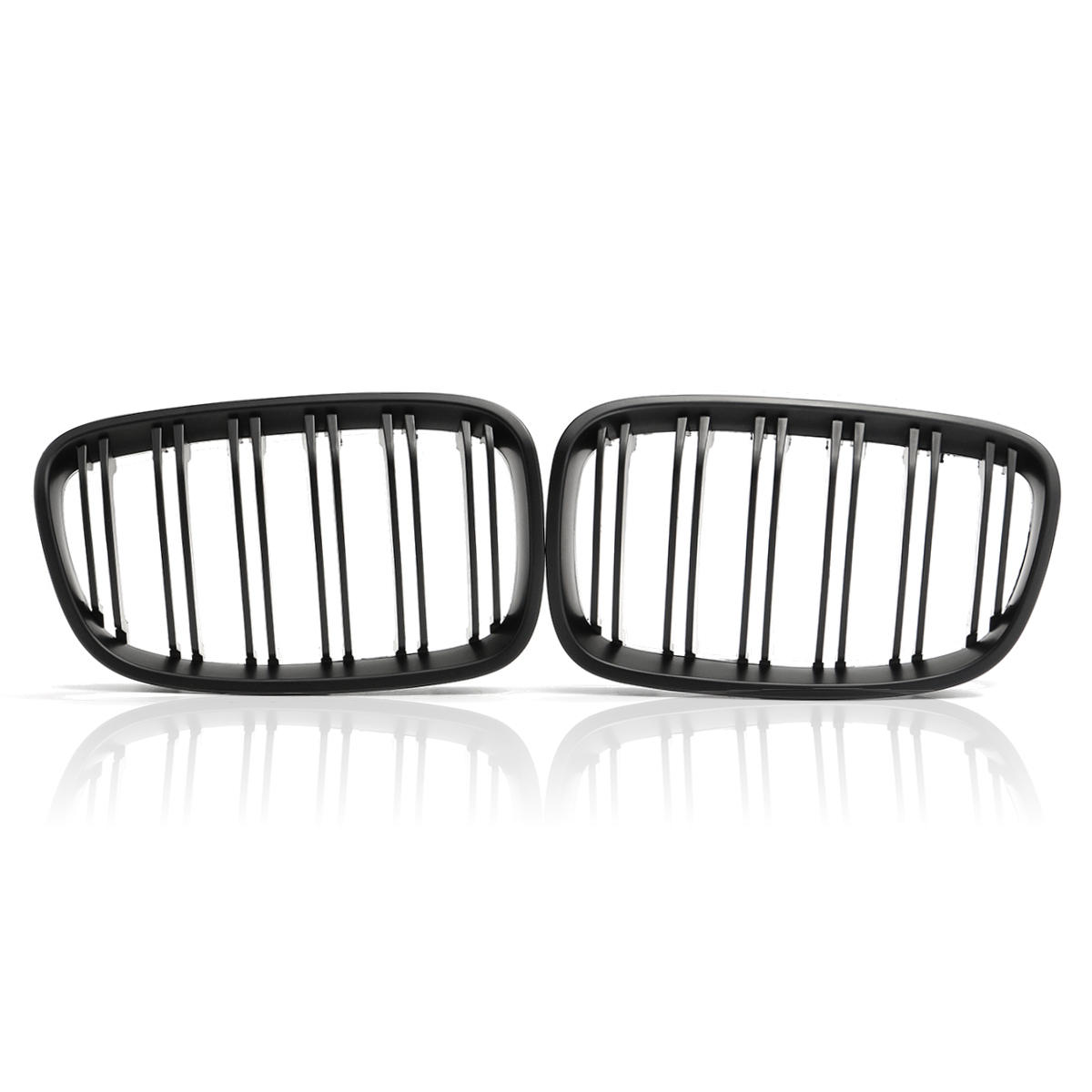 One Paire Matt Black Front Bumper Grille Double Slat pour BMW F20 1 Series 2010-2014