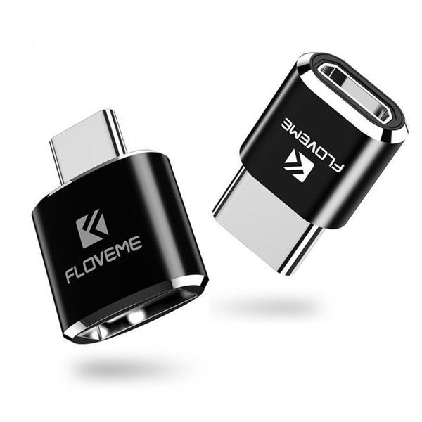 FLOVEME Type C Convertidor de Adaptador OTG Hembra Macho a USB Micro USB para Oneplus 5t Xiaomi 6 Mi A1 S8