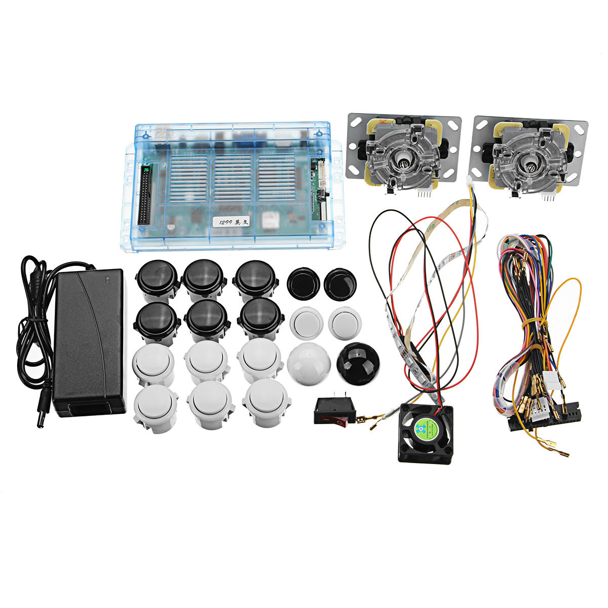 1299 em 1 dual mother board push button kit para Pandora's Box 5S consola de jogos de arcada diy